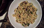 Délicieuse recette de pâtes Orzo aux champignons