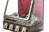 IPad en tapant steampunk robot - ROBOLED