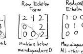 Transformation de Matrices carrées dans les ligne Echelon forme réduite