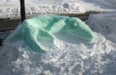 Snosasaurus : Une Sculpture de neige