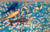 Sous le bac sensoriel de mer à l'aide de perle d'eau