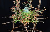 Guêpe et herbe résine oeuf avec Rose Stand