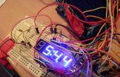 TimeDuino - 7 Segment Arduino horloge (sans registres à décalage nécessaires!)