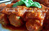 Soutzoukia (du grec '' boulettes '' à la sauce tomate) traditionnelle cuisine grecque de YiaYia mais Vegan!!