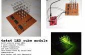 4 x 4 x 4 cube de LED, avec MSP430, avec seulement 3 points