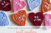 Brodé de Conversation coeur tricot sous-verres
