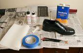 Chaussures en cuir peinture (ou autres trucs de cuir)