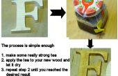 Coloration de bois avec du thé