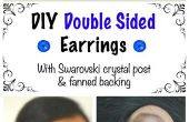 BRICOLAGE Double face de boucles d'oreilles avec Swarovski Cristal Post & attisé soutien