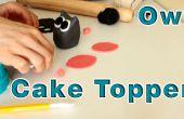 Comment faire la pâte de sucre Fondant chouette gâteau Topper