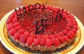 Gâteau au fromage au chocolat de framboise anniversaire