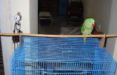 Faire un perchoir perroquet haut de cage !