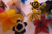 Giroflées (sac en plastique accroché des fleurs)