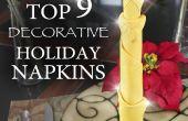 Top 9 façons de plier les serviettes de table vacances génial !