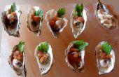 Huîtres avec Sorbet épicé de Bloody Mary