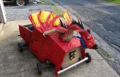 Dragon médiéval Soapbox Derby voiture