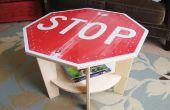 Table basse panneau stop