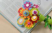 Comment faire des Bouquets de fleurs feutre avec des boutons et des perles en bois