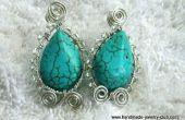 Ovale en forme de Turquoise boucles d'oreilles bijoux faisant tutoriel