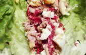 Oeuf, thon et poivron salade encapsule