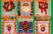 Couronnes de Noël facile