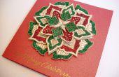 Carte de Noël médaillon
