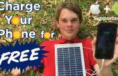 Chargez votre téléphone gratuitement avec le panneau solaire chargeur de téléphone