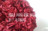 Bal de la Rose - tutoriel bricolage de papier tissu