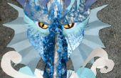 Artisanat de dragon de glace en carton