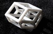 3D 4 dimensions Tesseract Hypercube modèle B TJT4/6