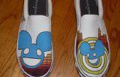 Chaussures peintes Deadmau5 (Mens taille 12) à la main