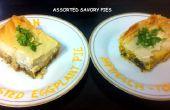 Assortiment de tartes salées (Influence indienne)