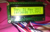 Faites-vous une horloge faite maison avec thermomètre utilisant ATMEGA128