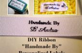 "DIY Ribbon ""Handmade By"" Personalized Labels"