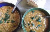 Soupe d'agneau et lentilles épicée