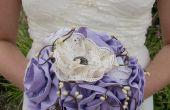 Bouquet de mariée mariage/fleurs de tissu