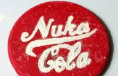 Comment faire un Coaster de Nuka Cola rougeoyante