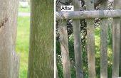Réparation de clôture