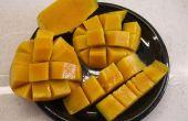 Découper une mangue - style hawaïen