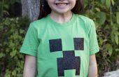 Pochoir d'un T-shirt de plante grimpante Minecraft