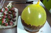 Comment faire un bol de chocolat à l'aide d'un ballon + chocolat recouvert de fraises