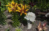 Champignons de béton jardin