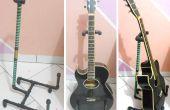 Suporte para violão - cano PVC / Guitar Stand - tuyaux en PVC