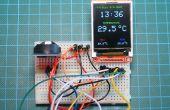 Horloge en temps réel de DS3231 Arduino avec couleur TFT