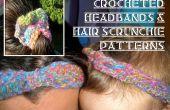 Curly Q serre-tête et cheveux chouchous au Crochet
