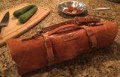 Rouleau de couteau du Chef en cuir