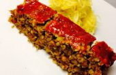 Végétalien Lentil Farro « pain de viande »