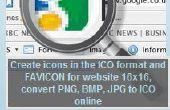 Générateur d'icône : créer des icônes au format ICO ou les favicon pour votre site