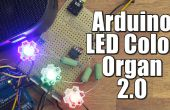 Arduino DIY LED couleur orgue 2.0