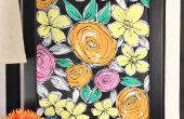 Peindre les fleurs Vintage